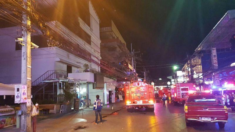 На Бангла-Роуд произошел пожар.  Возгорание произошло вечером субботы, 28 января, на втором этаже ночного клуба Seduction