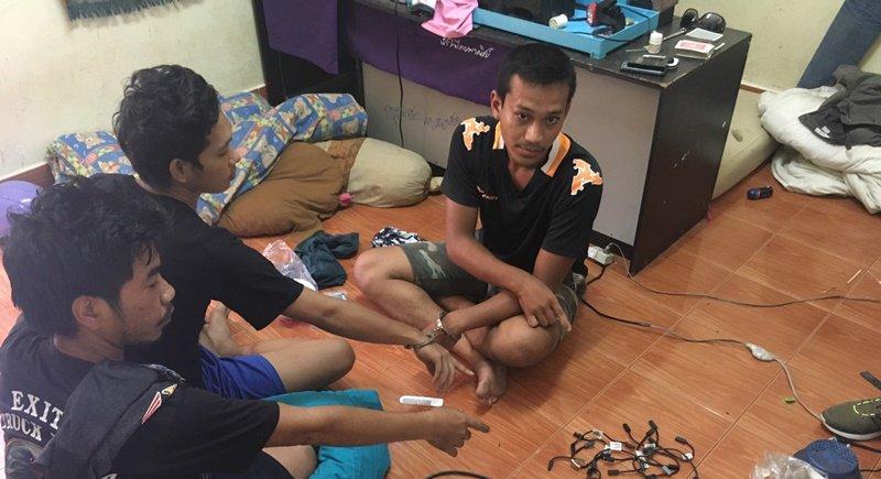 Три человека задержаны за кражу десятков аккумуляторов на Пхукете