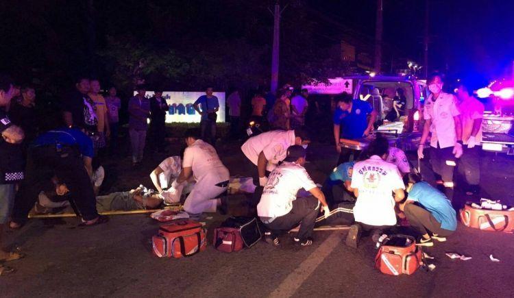 Крупная дорожная авария произошла на севере Пхукета в ночь на 18 июня. Обвинений пока никому не предъявлено.