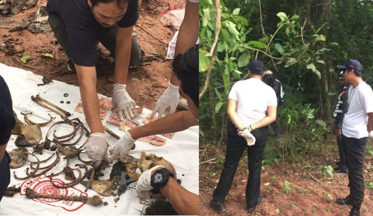 Скелет женщины обнаружили у закрытого ночного клуба в Кату.  Полицейские эксперты пытаются установить личность женщины, останки которой были обнаружены 11 июля в джунглях недалеко от ночного клуба King Kong Party Club в Кату (сейчас не работающего)