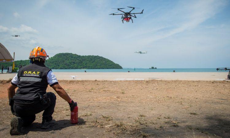 В понедельник, 8 июля, на мысе Панва прошел очередной этап учений IDMEx 2019. За действиями спасателей наблюдал премьер-министр Таиланда Прают Чан-Оча