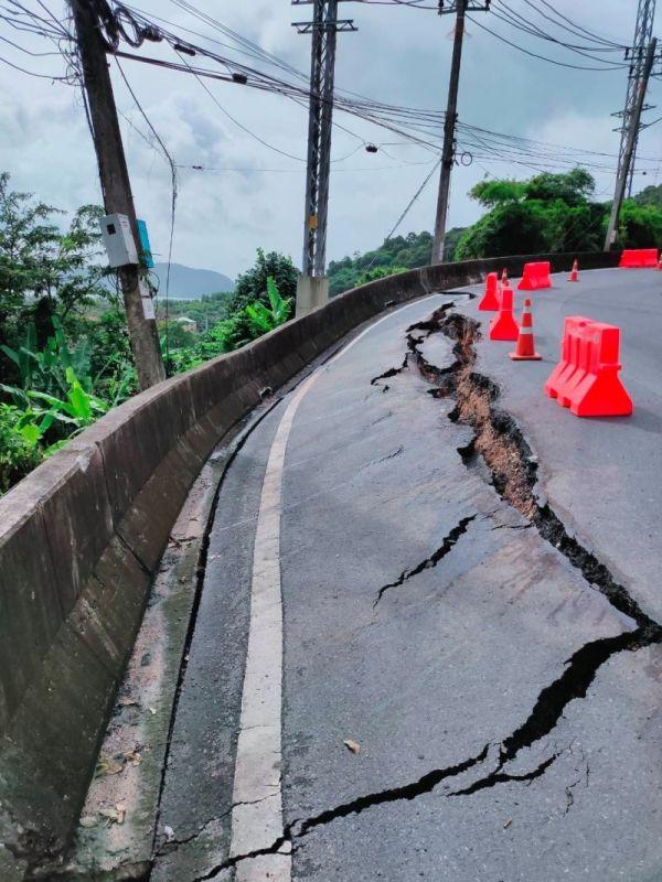 Горная дорога из Чалонга в Карон повреждена из-за дождей