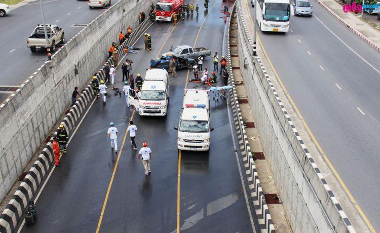 Экстренные службы Пхукета провели учения в аэропорту и в тоннеле у Central Festival.