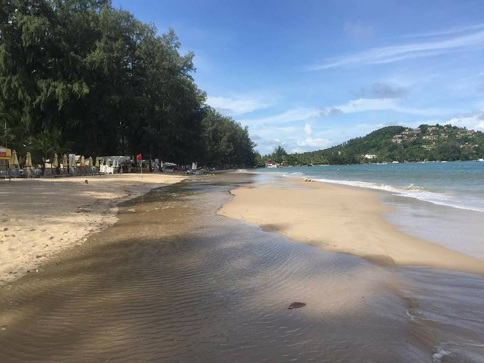 Bang tao Beach with high tide