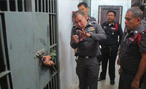 """killer"" cop turns self in, Dolphin dies, jail break"