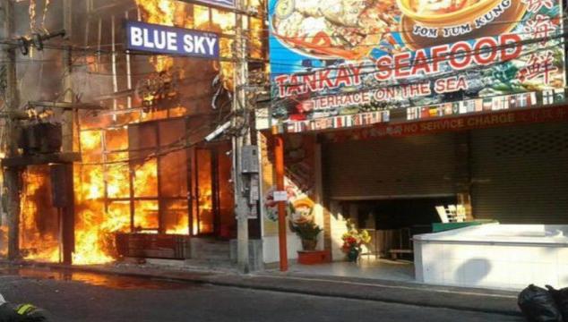 Пожар на Walking Street в Паттайе