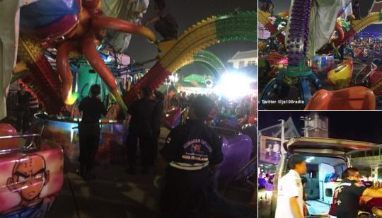 В Таиланде из-за обрушения карусели пострадали 15 человек