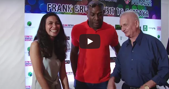 Frank Bruno visit in pattaya