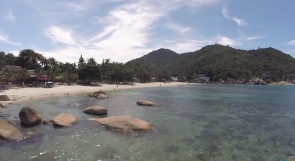 Aerial video Crystal Bay beach - Koh Samui - Chaweng - Thailand