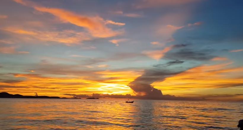 Паттайя, Таиланд - Необычный и красивый закат