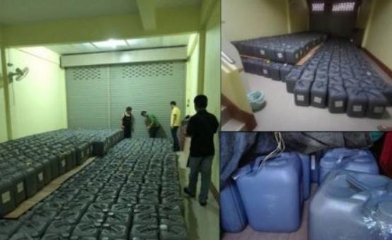 На границе с Мьянмой конфисковали 25 тонн кислоты для производства героина