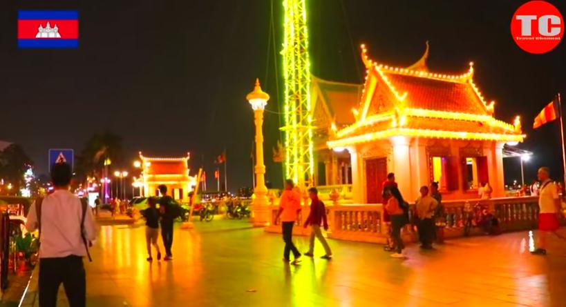 Amazing !!! Cambodia And Laos 2020, Mekong Riverside at night