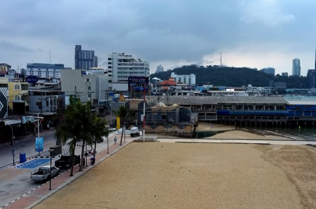Pattaya Beach Deserted January 2021 (By Drone) / Пляжи Паттайи 2021
