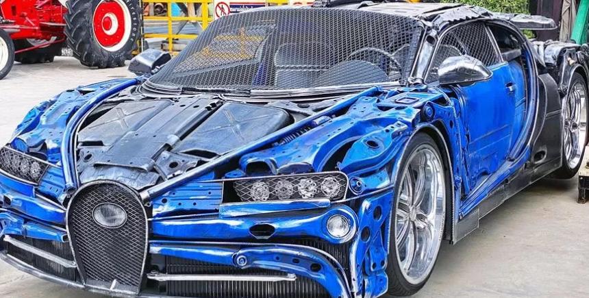 В Таиланде умельцы создали Bugatti Chiron из металлолома и мусора