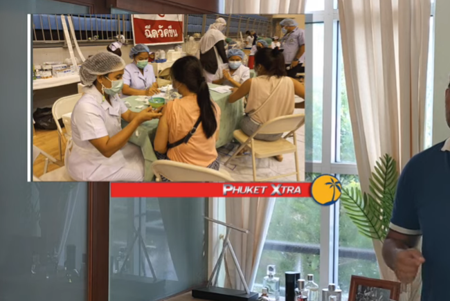 Over 70,000 in Phuket get 1st vaccine shot! Phuket Covid cases now over 2 dozen || Thailand News