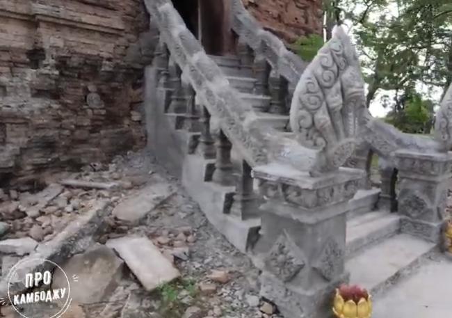 Древние храмы Храмы Империи Ченла. Доангкорский период Камбоджи. Prasat Pros и Prasat Kiri Sophon