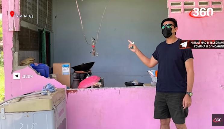 В Таиланде слону захотелось устроить ночной перекус. Ради этого он проломил стену кухни