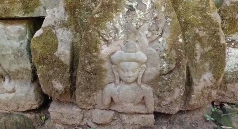 Руины храма Палилай. Индуистский храм с буддийскими фресками. Камбоджа. Ангкор. Экскурсия. HD видео