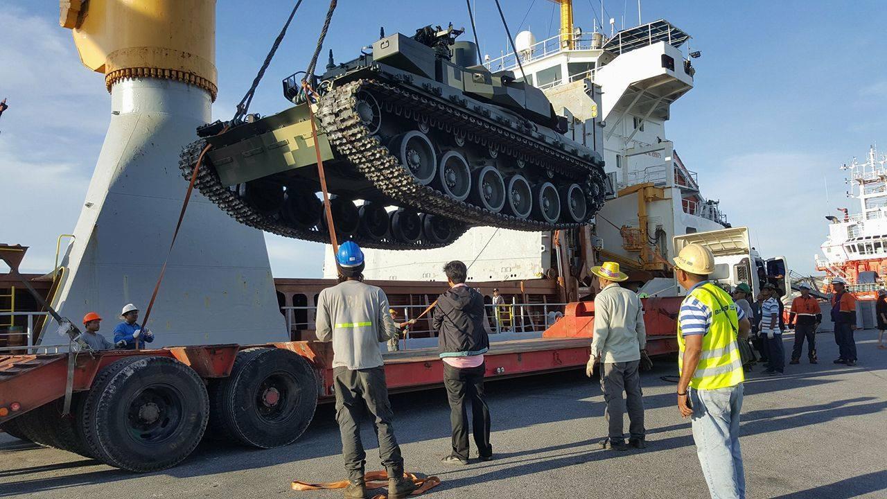 В Таиланд прибыла очередная партия украинских танков