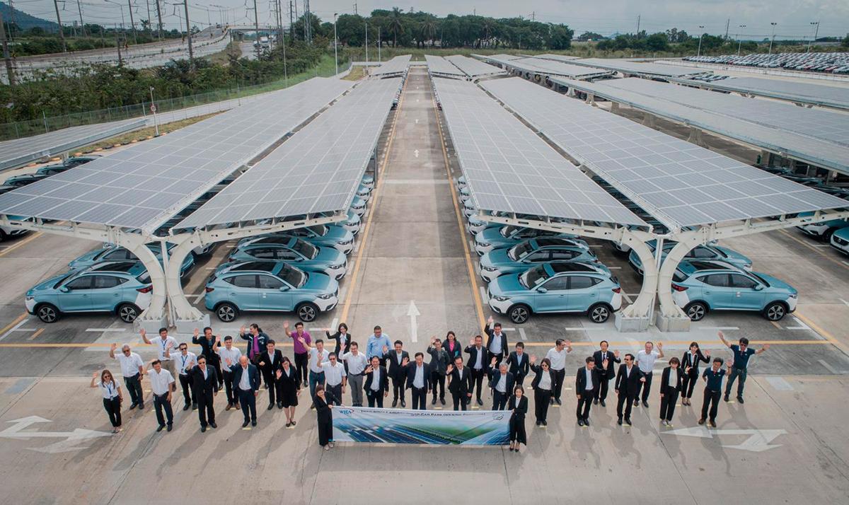 Крупнейшая в Таиланде парковка на солнечных батареях