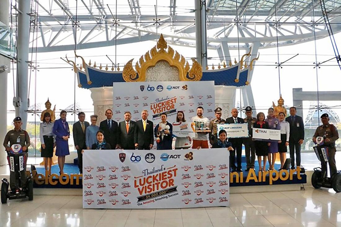 Российский турист стал 39-миллионным путешественником в Таиланде