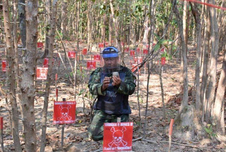Таиланд обезвредил более 200 мин на границе с Мьянмой
