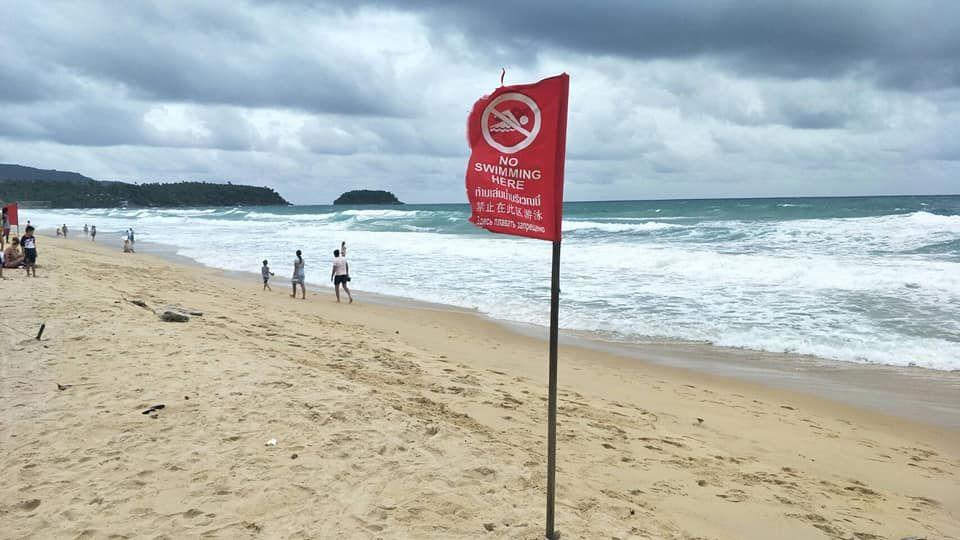 Спасатели Пхукета предупреждают о сильных течениях возле пляжей