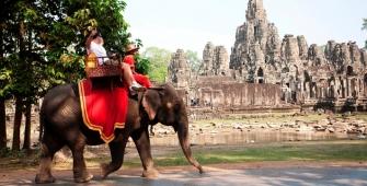 Число туристов, прибывающих в Камбоджу, увеличилось на 5%