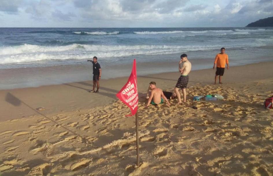 На пляже Карон спасли пьяного туриста, проигнорировавшего красные флажки