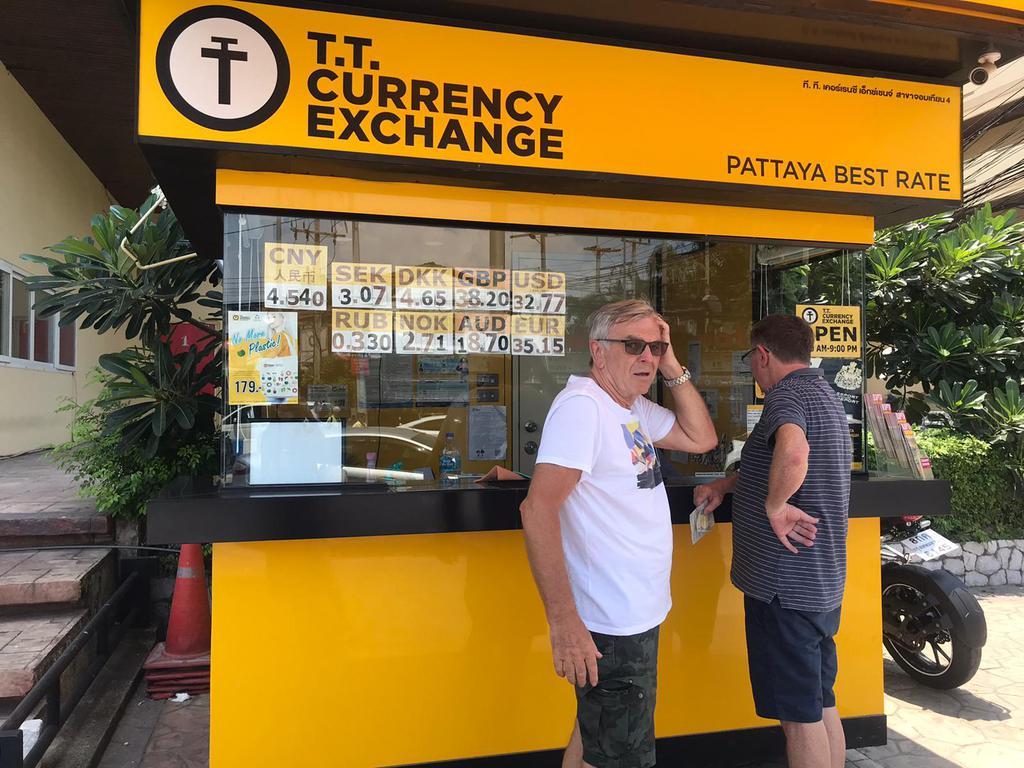 Пункты обмена валют T.T. значительно сократили рабочие часы в Паттайе из-за Covid-19