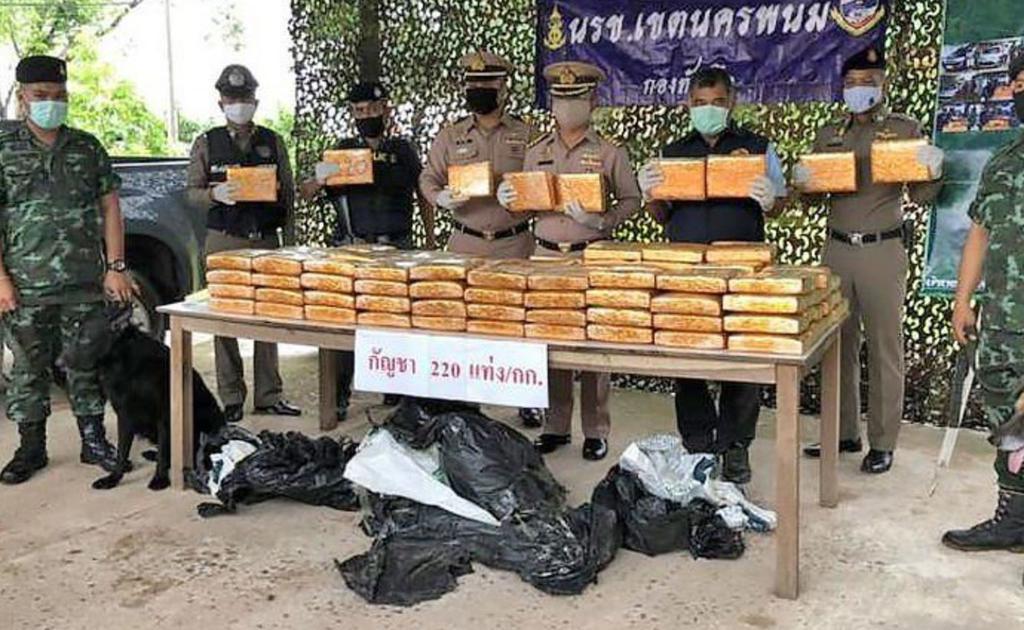 На границе Таиланда поймали преступников с 409 килограммами марихуаны