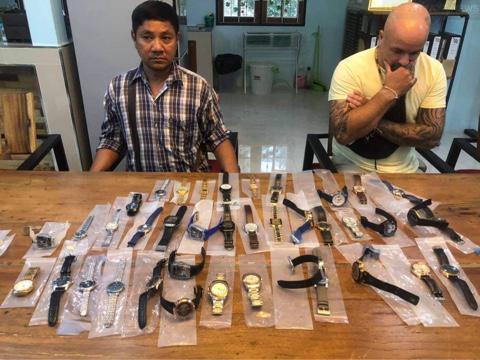 Британский эмигрант и таец арестованы в Паттайе за продажу поддельных часов