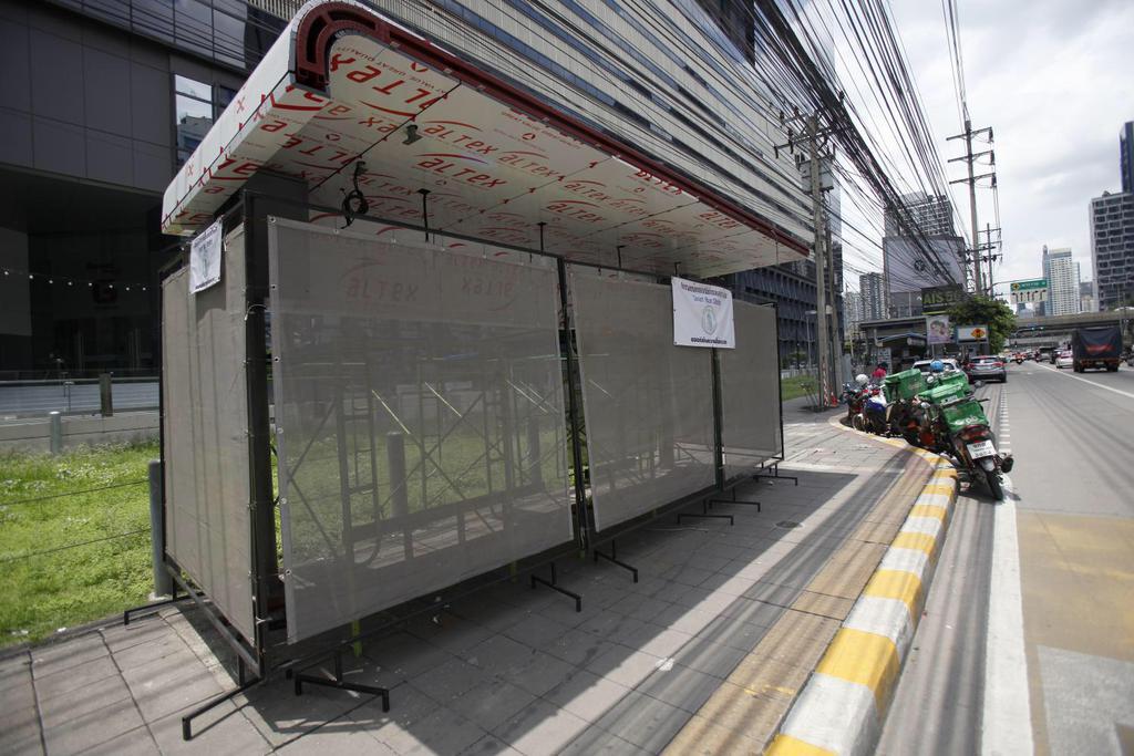 В Бангкоке появляются автобусные остановки нового поколения