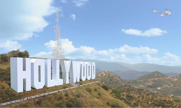 «Биография» надписи «Голливуд»