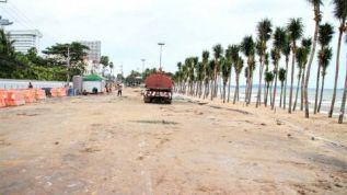 Реконструкция пляжа Паттайи продлится до будущего апреля