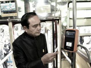 Премьер Прают испытал автоматическую систему оплаты проезда в автобусах