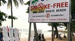 Власти Паттайи признали, что нельзя штрафовать или сажать в тюрьму за курение на пляже