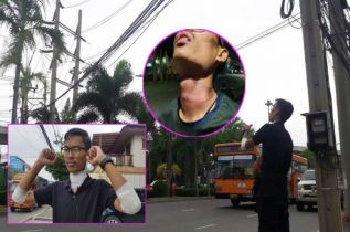 Кажется, с каждым днем провода в Таиланде вешают всё ниже