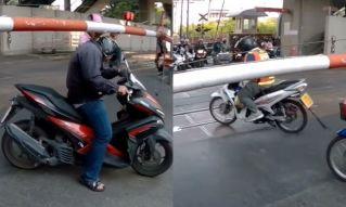 Почему тайские мотоциклисты и пешеходы играют в кошки-мышки с поездом?