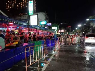 Полиция Паттайи прервала празднование Сонкрана на Бич-роуд