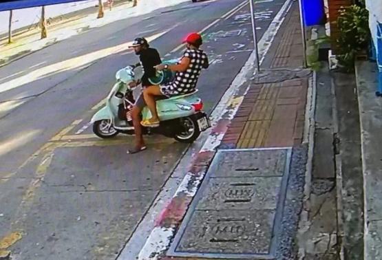 В Паттайе мужчина и женщина крали газовые баллоны