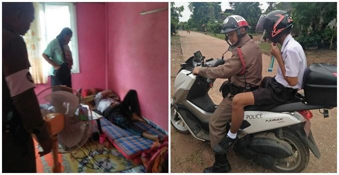 Тайская бабушка вызвала полицию, чтобы заставить внука идти в школу