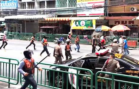 Водители такси устроили бойню в столице Таиланда