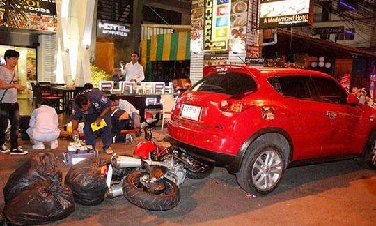 Россиянина сбил мотоцикл в Паттайе