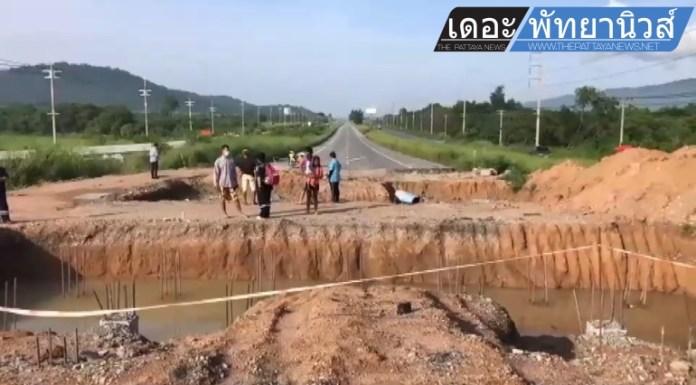 Водитель мотоцикла погиб после падения в  дорожно-строительную яму в Чонбури