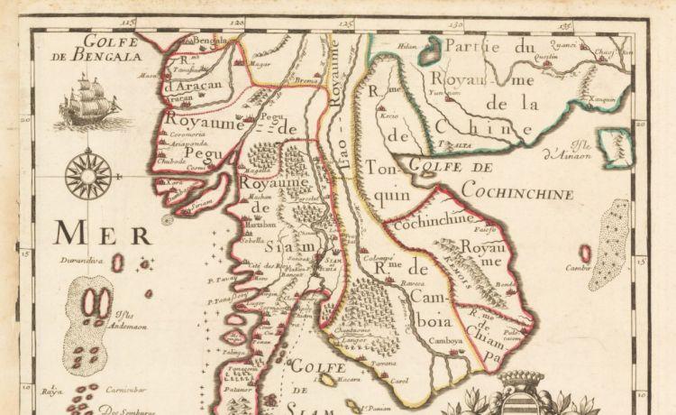 Карта Древнего Сиама