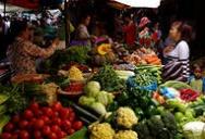 Market in Phnom Penh Cambodia