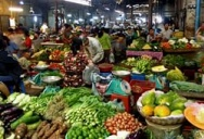 Продуктовый рынок в Камбодже