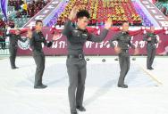 Полиция Таиланда танцует , thai police breakdance , งานกีฬากองทัพไทย วันที่ 26 มิ.ย. 2558