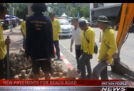 NEW PAVEMENTS FOR BEACH ROAD